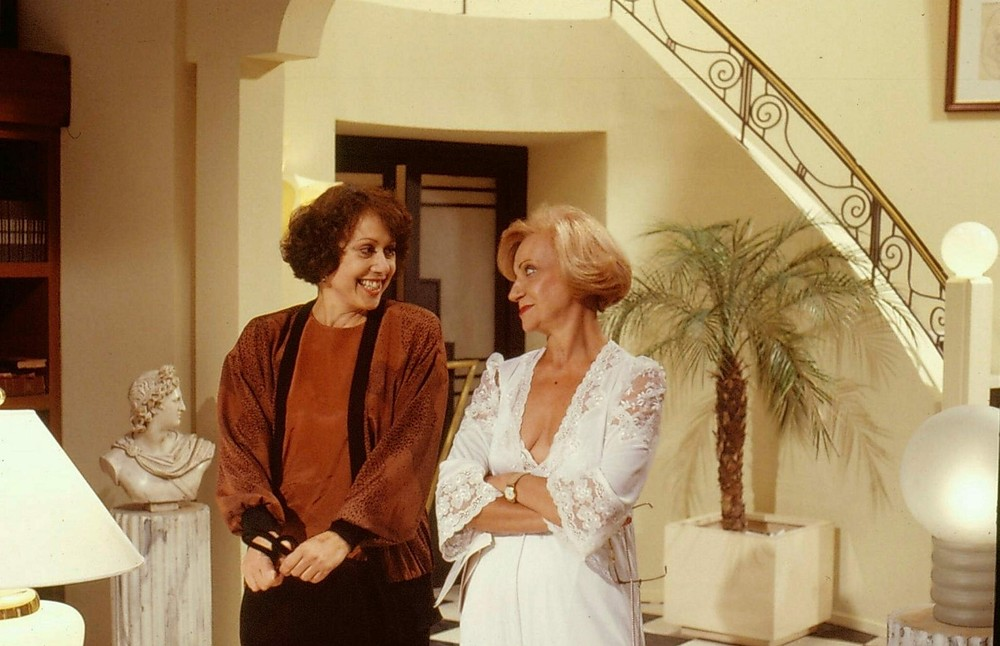 Márcia Real e Dina Sfat em 'Bebê a Bordo', de 1988 — Foto: Acervo TV Globo
