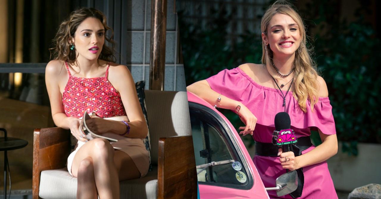 """Antes e depois de Manuzita em """"Verão 90"""" Foto: Isabella Pinheiro e Fabiano Battaglin/Gshow"""