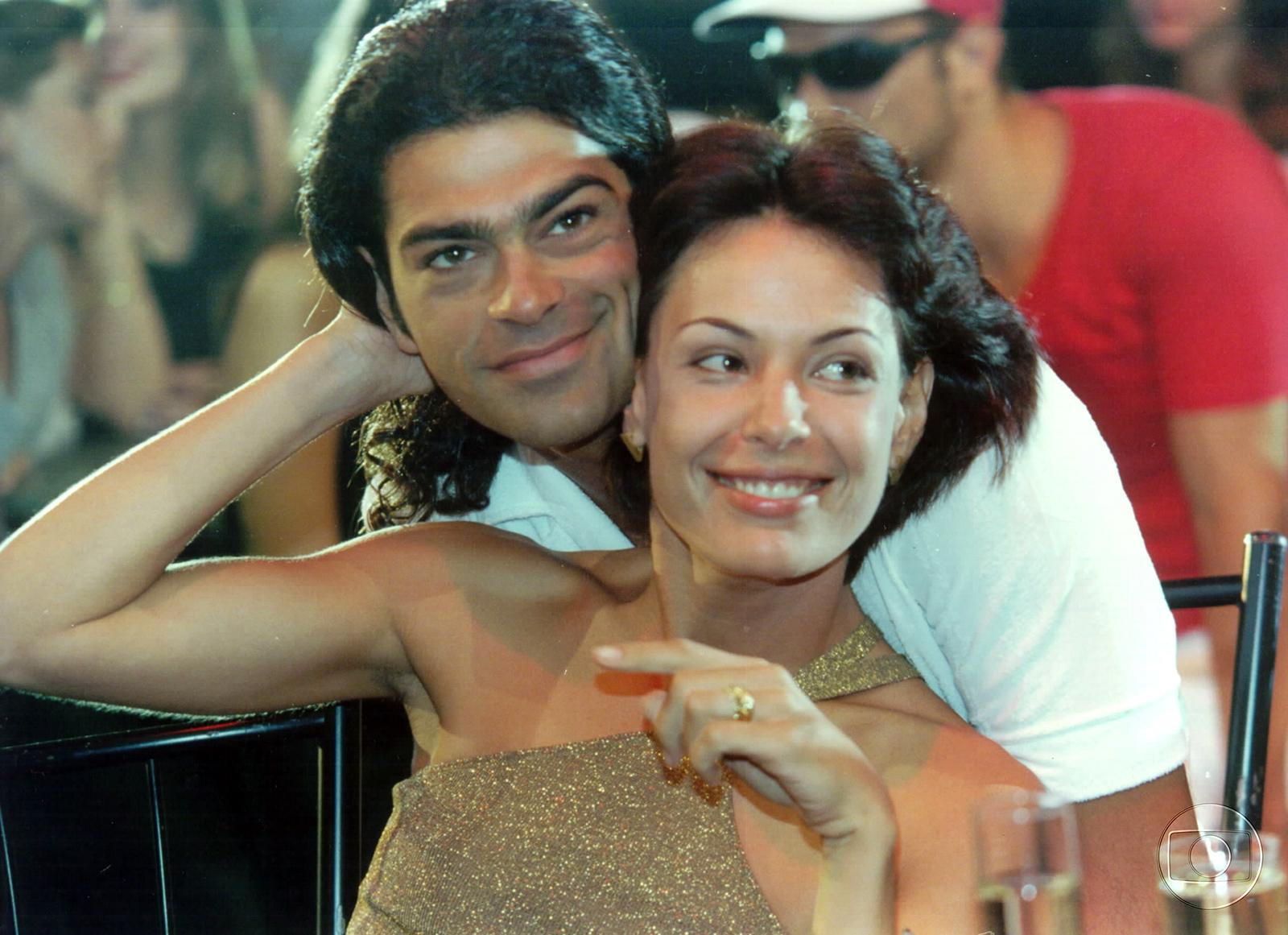Milena (Carolina Ferraz) e Nando (Eduardo Moscovis), em Por Amor