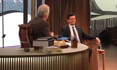 """Pedro Bial recebe Sérgio Moro no """"Conversa com Bial"""""""