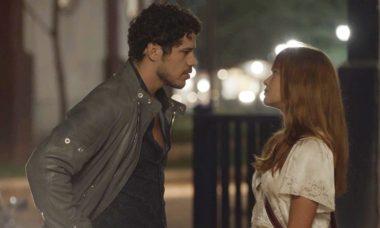 """Júnior (José Loreto) e Luz (Marina Ruy Barbosa) em """"O Sétimo Guardião"""""""