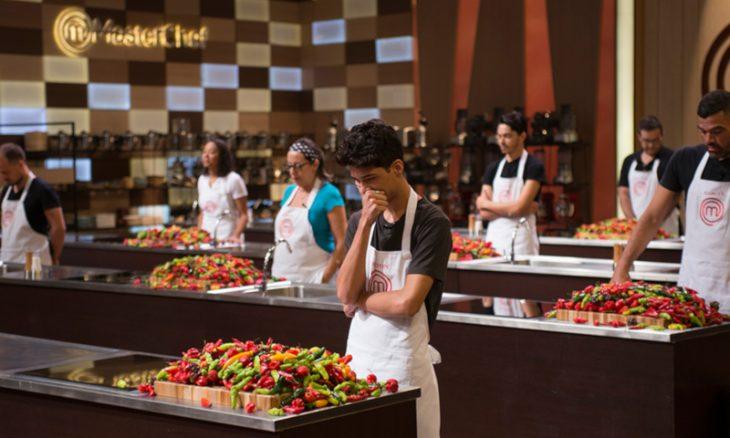 Prova da Caixa Misteriosa no Masterchef trouxe pimentas para os participantes. / Foto: Band