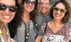 Paulo e Eliane com as filhas, Mariana e Juliana, durante passeio em família — Foto: Reprodução/Instagram