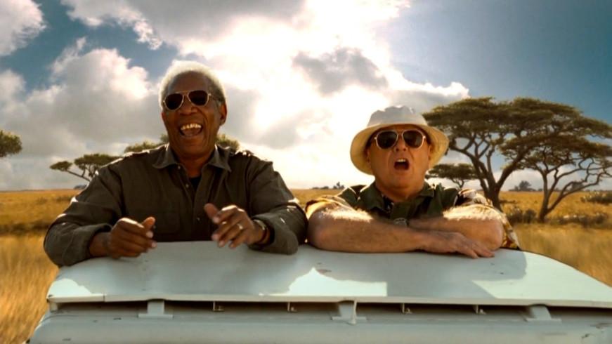 "Morgan Freeman e Jack Nicholson em ""Antes de Partir"""
