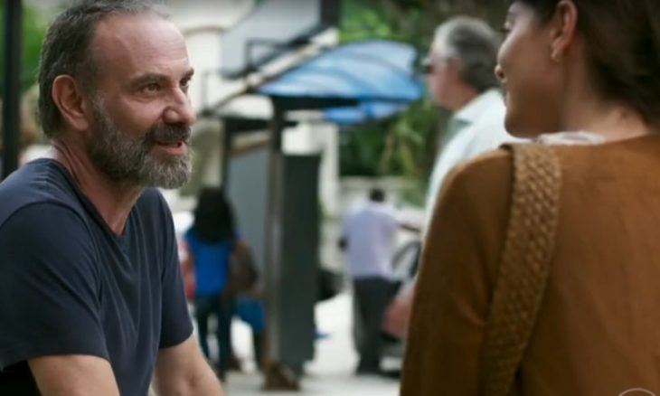 """Elias (Marco Ricca) e Helena (Carol Castro) em """"Órfãos da Terra"""" / Foto: TV Globo"""