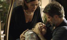"""Judith (Isabela Garcia) confessa os assassinatos dos guardiões em """"O Sétimo Guardião"""" / TV Globo"""