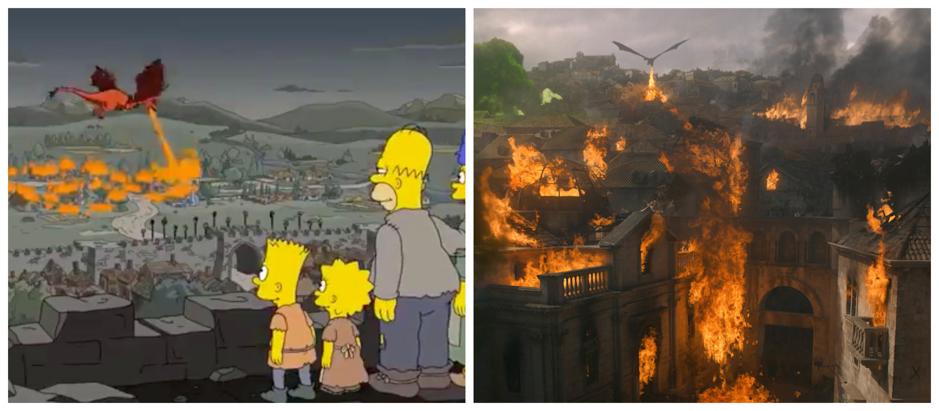 Simpsons comparado com Game of Thrones / Fotos: Divulgação
