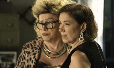 """Marcos Paulo (Nany People) e Valentina (Lilia Cabral) em """"O Sétimo Guardião)"""