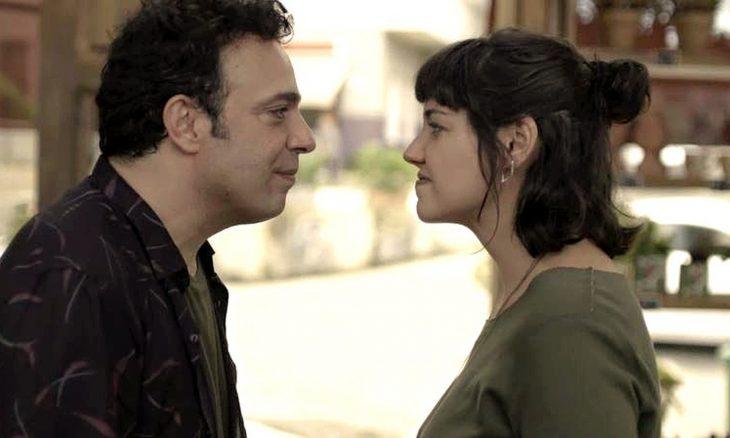 """Abner (Marcelo Médici) e Sara (Verônica Debom) em """"Órfãos da Terra"""" / Foto: TV Globo"""