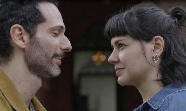 "Ali (Mouhammed Harfouch) e Sara (Verônica Debom) em ""Órfãos da Terra"" / Foto: TV Globo"
