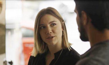 "Dalila (Alice Wegmann) e Jamil (Renato Góes) em ""Órfãos da Terra"" / Foto: TV Globo"