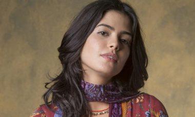 """Laila revela a Jamil que está grávida. Hoje (13/9) em """"Órfãos da Terra"""""""
