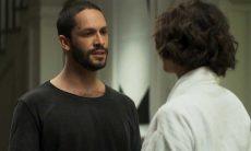 """Téo confronta Jô sobre o assassinato de Jardel. Segunda (28) em """"A Dona do Pedaço"""""""