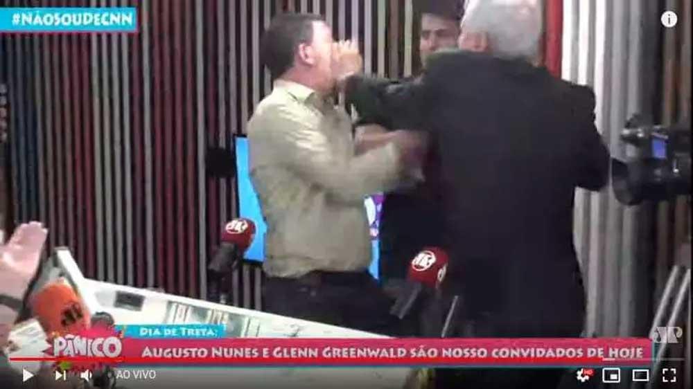 Jornalista da Jovem Pan e Glenn trocam tapas ao vivo; assista
