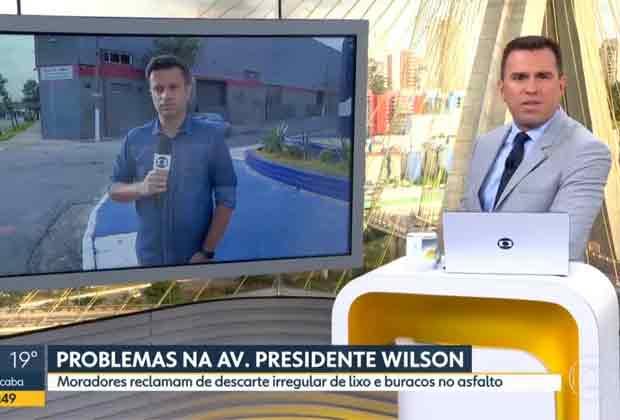 Rodrigo Bocardi rebate telespectador no Bom Dia SP sobre situação do lixo