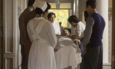 """Júlio não resiste e falece diante de Lola e seus filhos. Hoje(2) em """"Éramos Seis"""""""