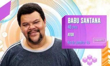 Babu Santana, 40 anos, do Rio de Janeiro