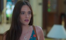 """Luna/Fiona descobre que Téo é filho de Helena. Quarta (19/2), em """"Salve-se Quem Puder"""""""