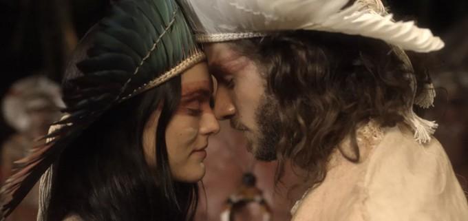 """Anna e Joaquim se casam em um ritual indígena. Sábado (18/4), em """"Novo Mundo"""""""
