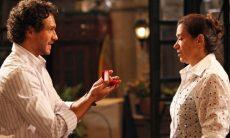 """Guaracy pede Griselda em casamento. Sábado (18/4), em """"Fina Estampa"""""""