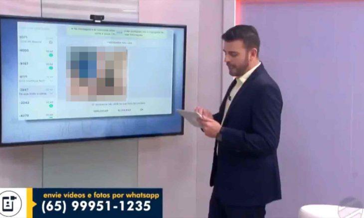 Globo do Mato Grosso deixa nude vazar ao vivo e se atrapalha para tirar do ar