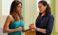 "Tereza Cristina e Griselda rezam juntas no hospital. Terça (12/5), em ""Fina Estampa"""