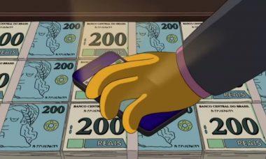 """""""Os Simpsons"""" previu nota de R$ 200"""