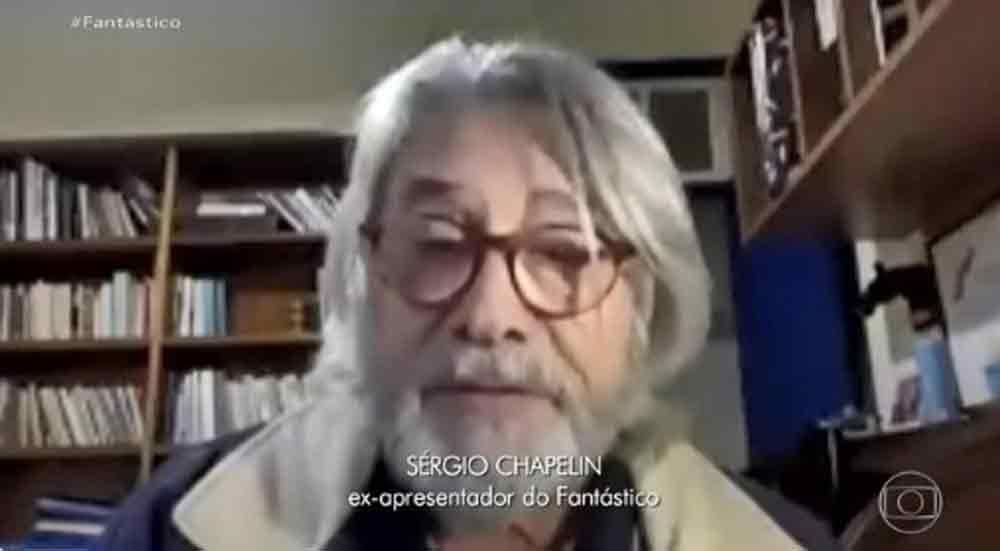 Sérgio Chapelin aparece irreconhecível com novo visual; veja. Foto: Reprodução TV Globo