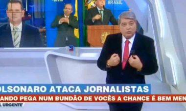 """Datena se revolta contra Bolsonaro: """"B... é o senhor"""". Foto: Reprodução Youtube"""