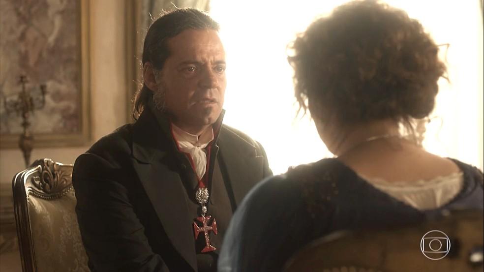 "Leopoldina faz pedido a Bonifácio no último capítulo de ""Novo Mundo"""