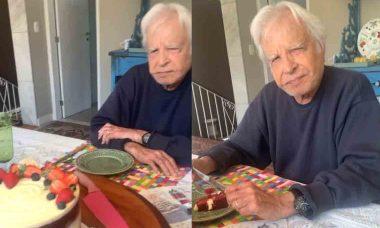 Cid Moreira completa 93 anos com vídeo redes sociais. Foto: Instagram