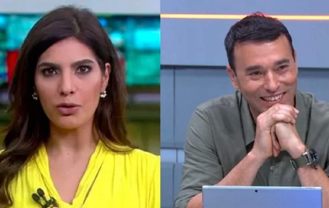 """Os jornalistas Andreia Sadi e André Rizek estão """"grávidos"""" de gêmeos"""