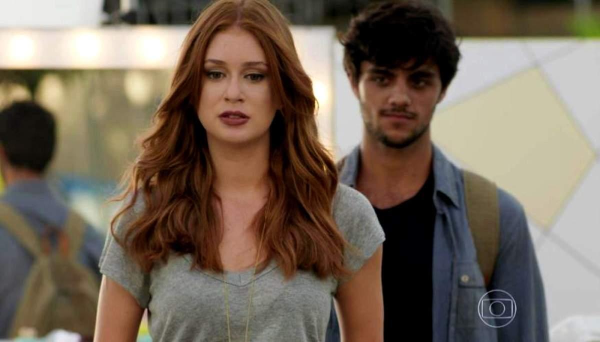 "Jonatas surpreende Eliza no aeroporto nesta quinta (8) em ""Totalmente Demais"""