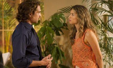 """Ester confessa a Aberto que nunca o amou em """"Flor do Caribe"""" nesta segunda (12)"""