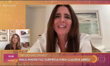Cláudia Abreu chora com mensagem de Malu Mader . Foto: Reprodução Twitter