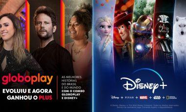 """Globoplay anuncia parceria com Disney+: """"uma única oferta dois serviços de streaming"""""""