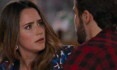 """Giovanni confessa à Bruna estar apaixonado por Camila nesta segunda (16) em """"Haja Coração"""""""