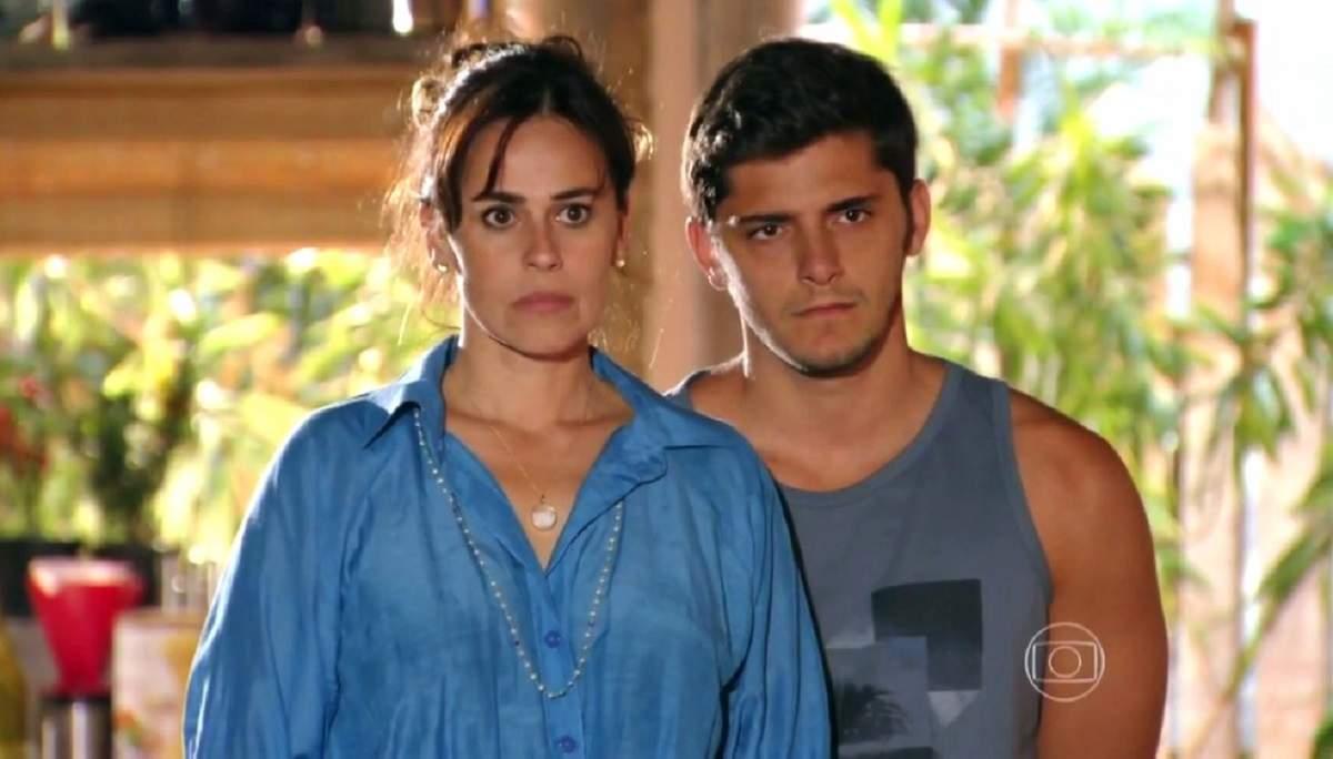 """Namorando Juliano, Natália se espanta ao ver o marido nesta quarta (4) em """"Flor do Caribe"""""""