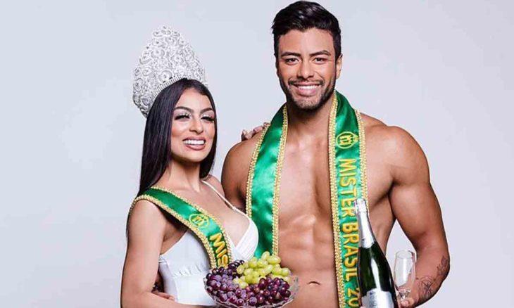 Miss e Mister Brasil: Juliana Malveira e Antony Marquez celebram a chegada de 2021. Foto: Divulgação