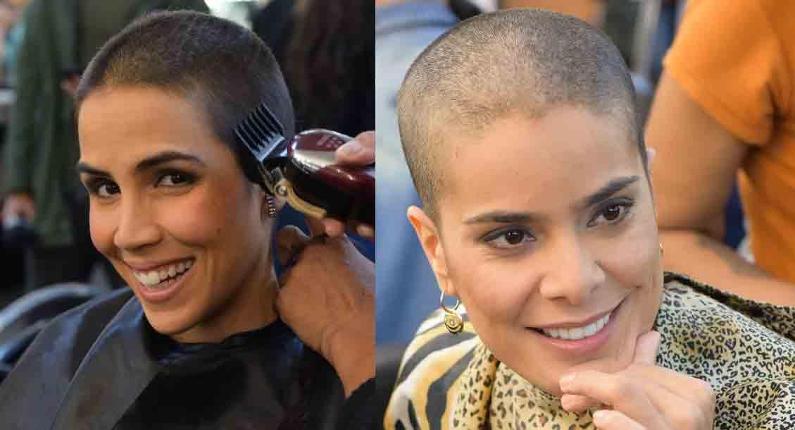 Gênesis: Pérola Faria e Bianka Fernandes raspam totalmente a cabeça para atuar em novela. Foto: Reprodução Instagram