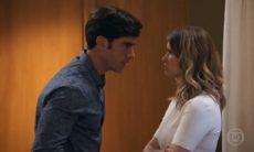 """Felipe socorre Shirlei e discute com Jéssica nesta quarta (9) em """"Haja Coração"""""""