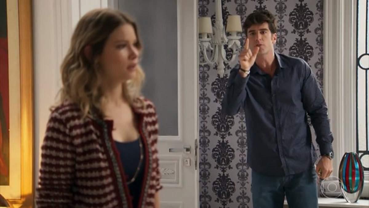 """Felipe expulsa Jéssica de sua casa neste sábado (26) em """"Haja Coração"""""""