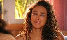 """Taís cai no choro ao ver Mantovani com outra mulher nesta terça (8) em """"Flor do Caribe"""""""