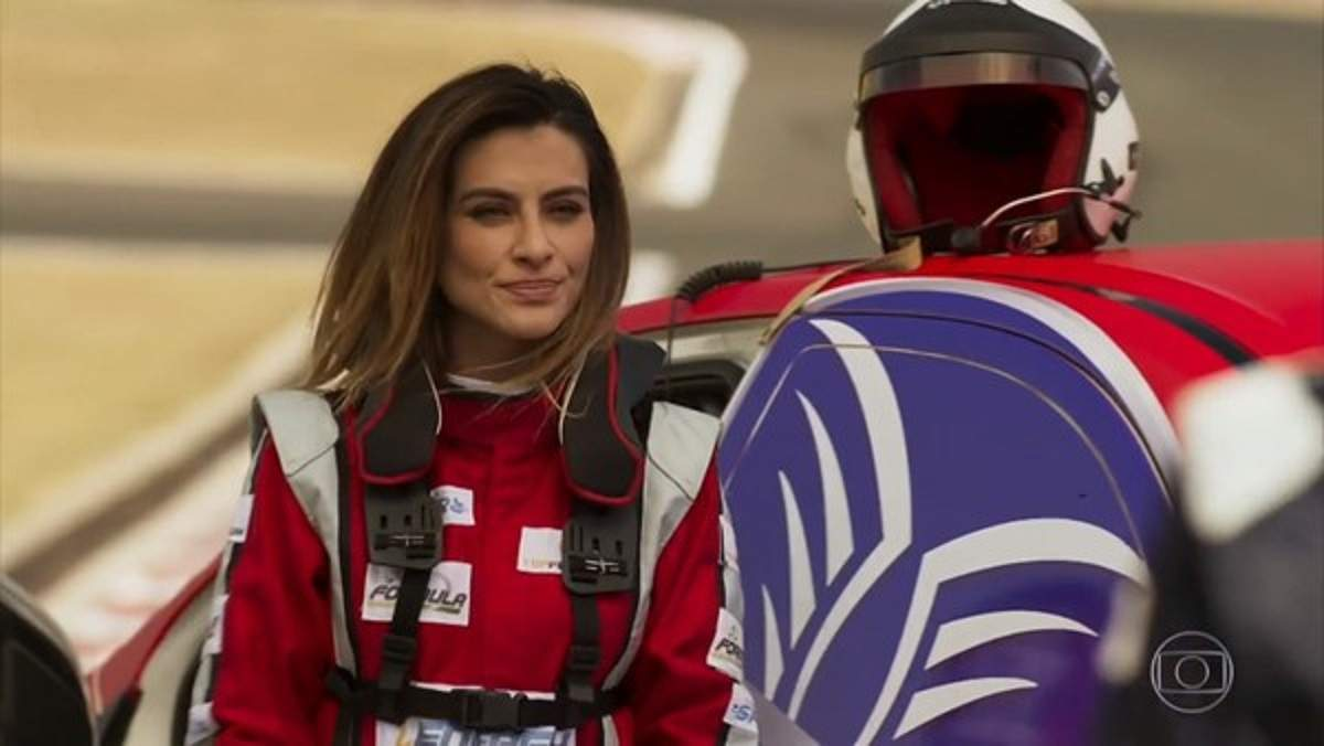 """Apolo e Tamara discutem na pista de corrida nesta segunda (28) em """"Haja Coração"""""""