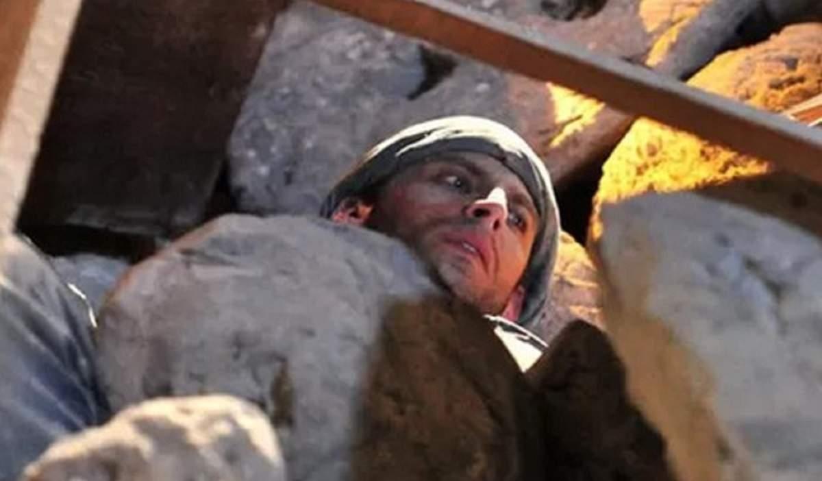 """Bomba explode na mina e Cassiano fica soterrado nesta quinta (14) em """"Flor do Caribe"""""""