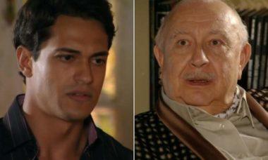 """Dionísio ameaça demitir Hélio após fracasso em matar Samuel nesta sexta (8) em """"Flor do Caribe"""""""