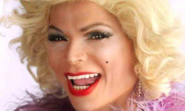 Drag Queen Salete Campari fará live hoje sobre o memorial Renato Russo em Brasília. Foto: Divulgação