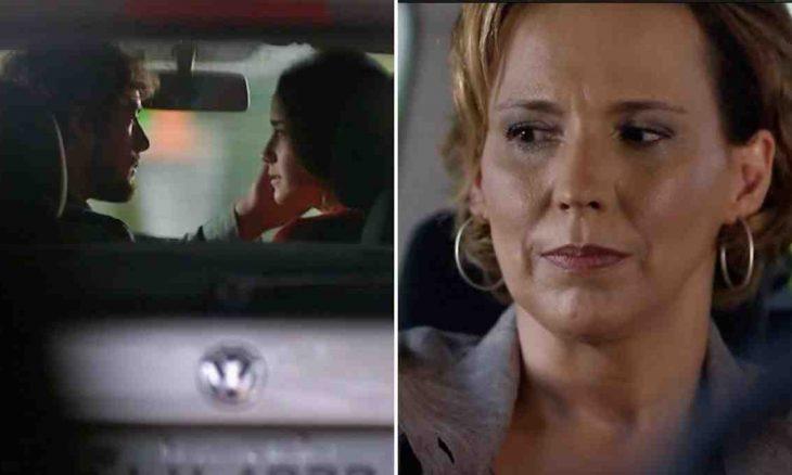 Eva vê Ana e Rodrigo se beijando nesta sexta (28) em 'A vida da Gente'