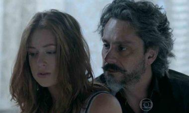 Maria Ísis revela a José Alfredo que está grávida nesta segunda (10) em 'Império' (Foto: Reprodução/Globo)