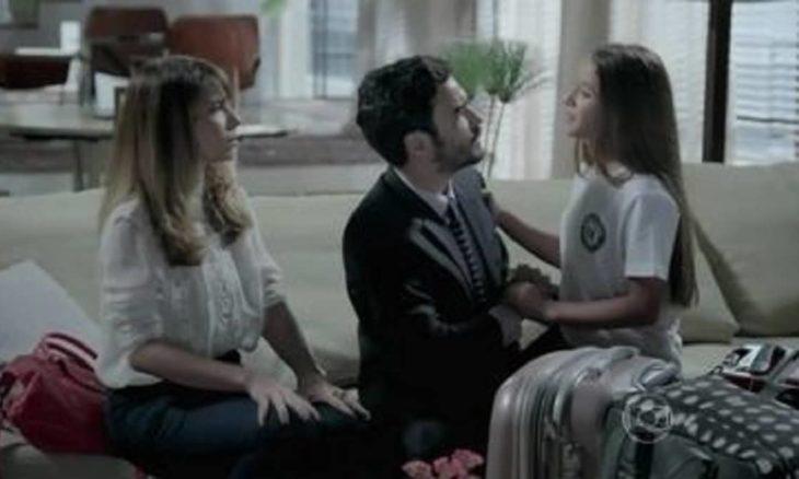 Danielle e José Pedro tentam explicar sua separação para Bruna nesta terça (27) em 'Império'